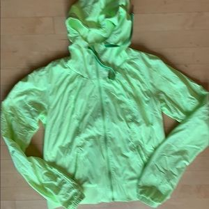 Lululemon neon lime green lined jacked